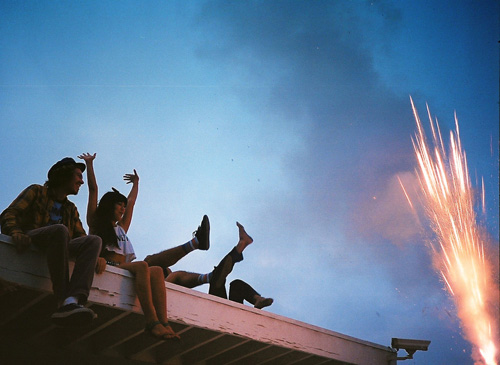 Fireworks on Roof
